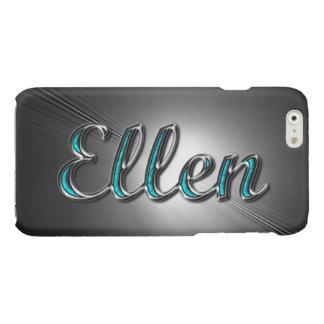 Ellen-Name im Türkis und in Silber gedruckt