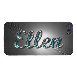 Ellen-Name im Türkis und in Silber gedruckt iPhone 5 Case
