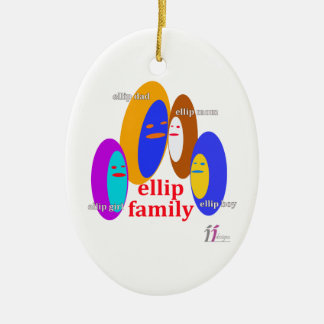 Ellip Familie Collaction - Entwürfe II Ovales Keramik Ornament