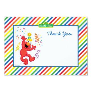 Elmo a barré des cartes de Merci d'anniversaire Carton D'invitation 8,89 Cm X 12,70 Cm