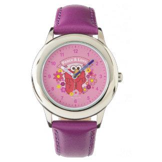 Elmo   Frieden u. Liebe Armbanduhr
