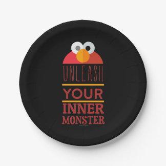 Elmo inneres Monster Pappteller