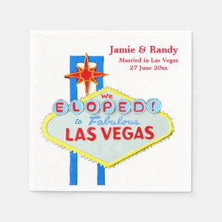 Elope Heirat Las Vegass Nevada Servietten