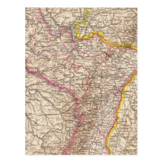 ElsassLothringen, Bayerische Pfalz Atlas-Karte Postkarte