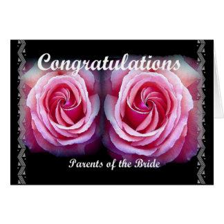 ELTERN der BRAUT - Hochzeits-Glückwünsche Grußkarte