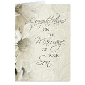 Eltern der Bräutigam-Hochzeits-Glückwunsch-Karte Grußkarte