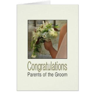 Eltern der Bräutigamhochzeitsglückwünsche Grußkarte