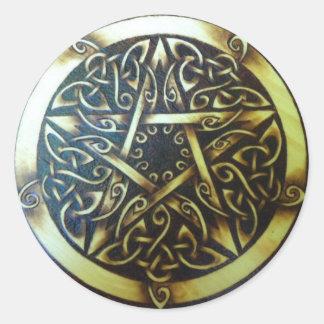 Elven Pentagramm-Aufkleber Runder Aufkleber