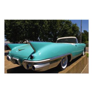 Elvis Presleys grünes Cadillac-Kabriolett herein Photodruck