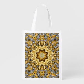 Emballages réutilisables colorés du marché de sacs cabas épicerie