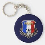 Emblème de bouclier de logo de Bleus de les de la  Porte-clef