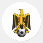 Emblème du football du football de l'Egypte Eagle Autocollant Rond