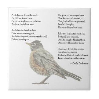"""Emily Dickinson """"im Garten"""" Gedicht-Fliese Fliese"""