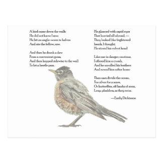 "Emily Dickinson ""im Garten"" Gedicht-Postkarte Postkarte"