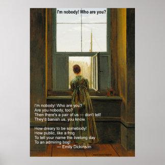 Emily Dickinsons ich bin niemand! Wer sind Sie? Poster