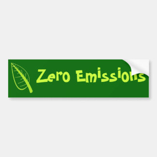 Émissions zéro autocollant de voiture