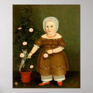 Emma Homan durch John Bradley ~ c.1844 Poster