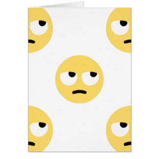 emoji Augenrollen Karte