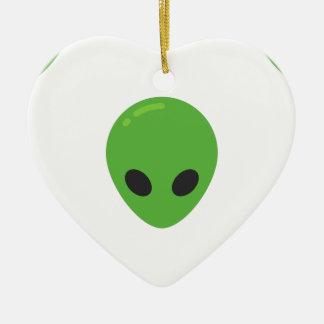 emoji Außerirdische Keramik Herz-Ornament