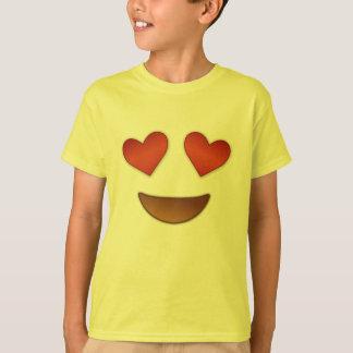 Emoji chaleureux de yeux t-shirt