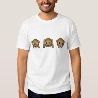 emoji de 3 singes tee shirt