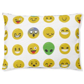 Emoji dogbed glücklicher haustierbett