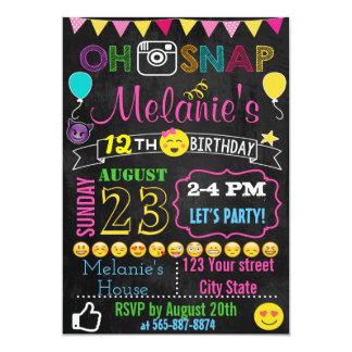 Emoji Geburtstags-Einladungskarte 12,7 X 17,8 Cm Einladungskarte