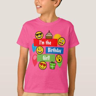 Emoji Geburtstags-Mädchen T-Shirt