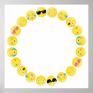 Emoji Geburtstags-Party Selfie Photobooth Poster