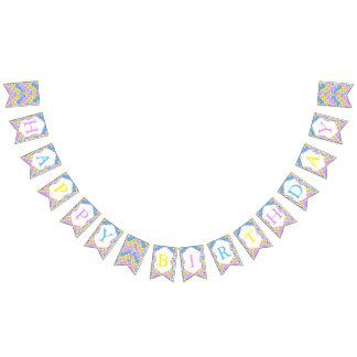 Emoji glückliche alberne Pastellgesichter Wimpelketten