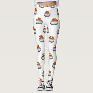 Emoji kräuselnde Steingamaschen Leggings