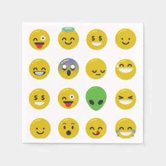 Emoji Papierservietten glücklichen Gesichtes