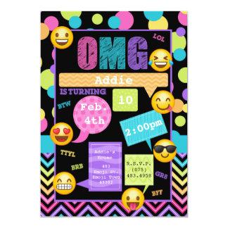 Emoji simsen Geburtstags-Party Einladung
