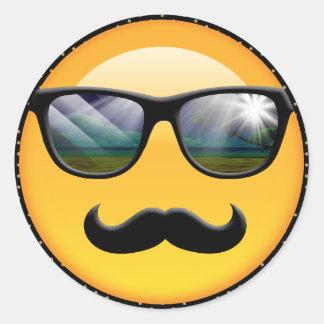 Emoji super schattiges ID230 Runder Aufkleber