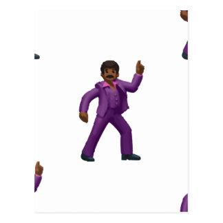 Emoji Tanzen-Mann Postkarte