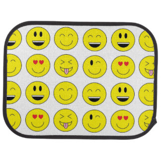 """Emojis"" Auto-Matten (Rückseite) Auto Fussmatte"