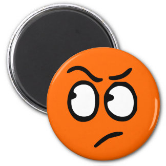 Emoticon-kundengerechter Hintergrund-Magnet Runder Magnet 5,1 Cm