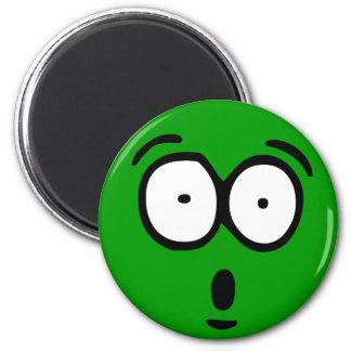 Emoticon-kundengerechter Hintergrund-Magnet Runder Magnet 5,7 Cm