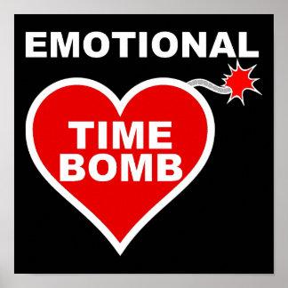 Emotionales Zeitbombe-lustiges Plakat-Zeichen Poster
