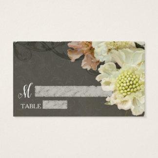 Empfangs-Tabelle, die moderne graue Blumenkunst Visitenkarte