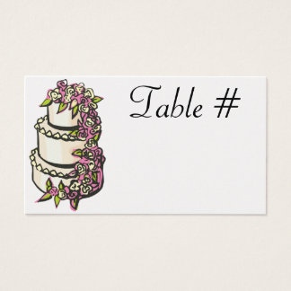 Empfangs-Tischnummer-Karten - Perle Visitenkarte