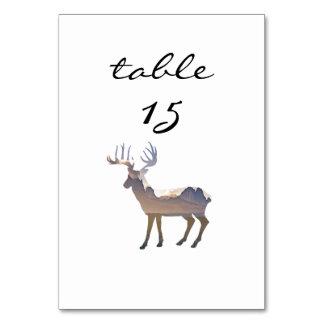 Empfangs-Tischnummer-rustikale Gebirgsrotwild Karte