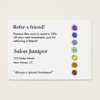 Empfehlungs-Karte mit sieben chakras Jumbo-Visitenkarten
