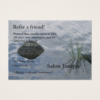 Empfehlungs-Karte mit Wasser und Steinen Jumbo-Visitenkarten