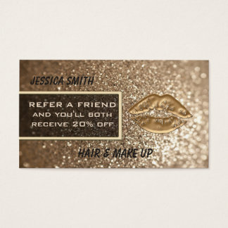 EmpfehlungskartenluxusImitat glittery Visitenkarten