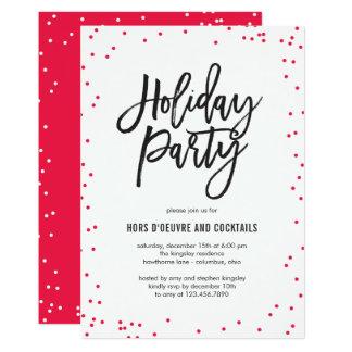 Empfindlich besprüht Feiertags-Party Einladung