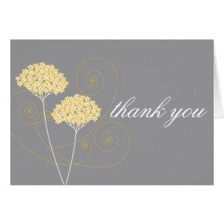 Empfindliche Blumen danken Ihnen Anmerkungs-Karte Mitteilungskarte