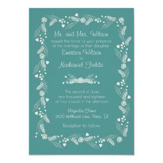 Empfindliche Blumenhochzeits-Einladung Karte