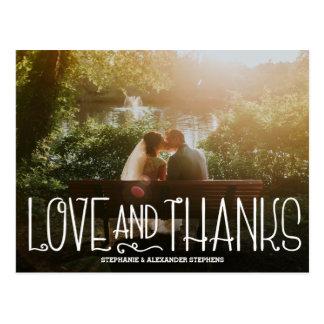 Empfindliche der Wedding Liebe und Dank dankt Postkarte