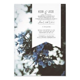 Empfindliche Verlobungs-Party Einladung der